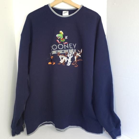 Warner Bros. Other - Vintage Looney Tunes Embroidered Sweatshirt XXL
